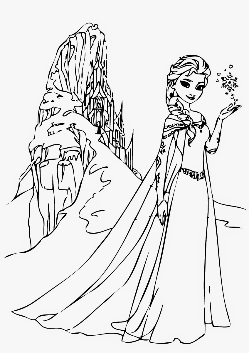 free frozen coloring pages to print