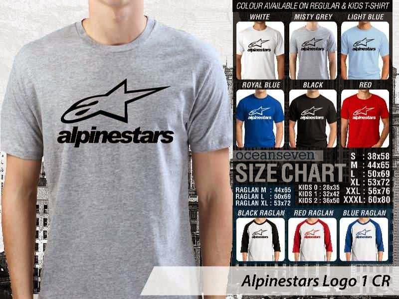 KAOS Alpine Star Logo Otomotif distro ocean seven