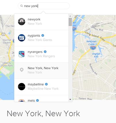 #hashtagien lisäksi selainversio tarjoaa paikkatietomerkintää hakuavusteissa