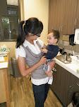 LePort Private School Irvine - Teacher and baby in Montessori daycare kitchen