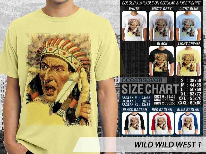 Kaos Cowboy Americana Indian 1 Wild West distro ocean seven