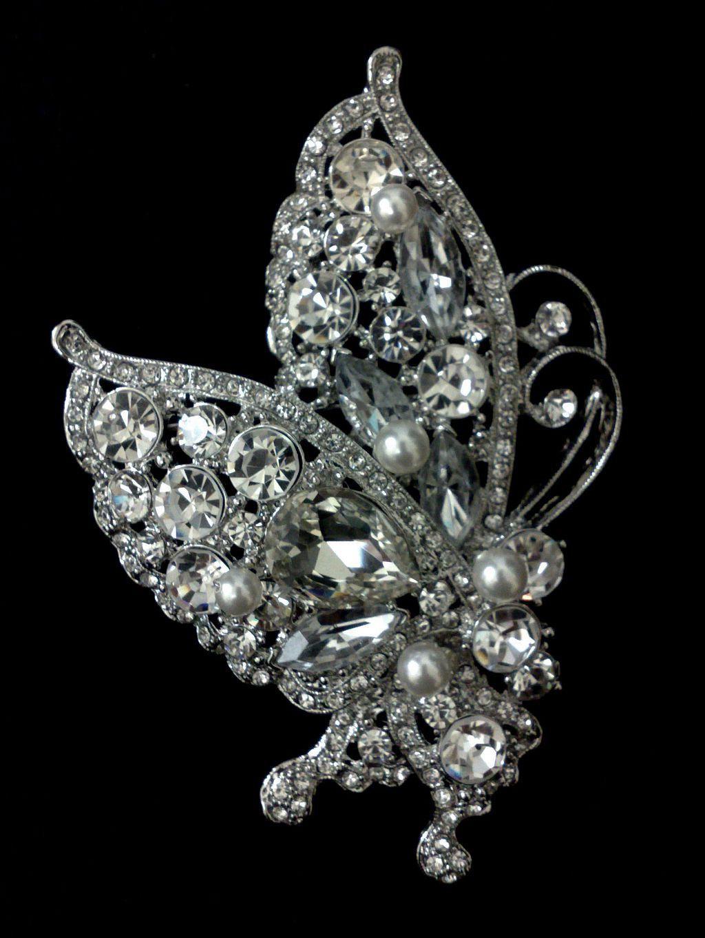 Butterfly Bridal Dress Brooch,