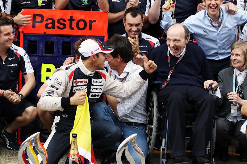 Пастор Мальдонадо дарит победу Фрэнку Уильямсу на Гран-при Испании 2012