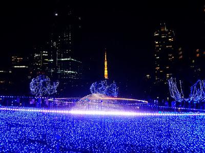 """東京ミッドタウンのクリスマスイルミネーション """"スターライトガーデン2015"""""""