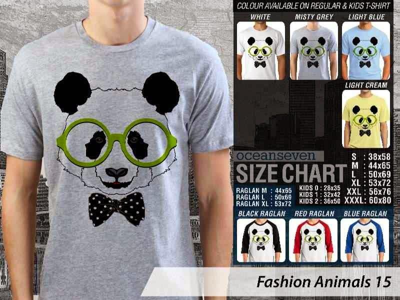 Kaos Fashion Animals 15 Binatang Panda distro ocean seven