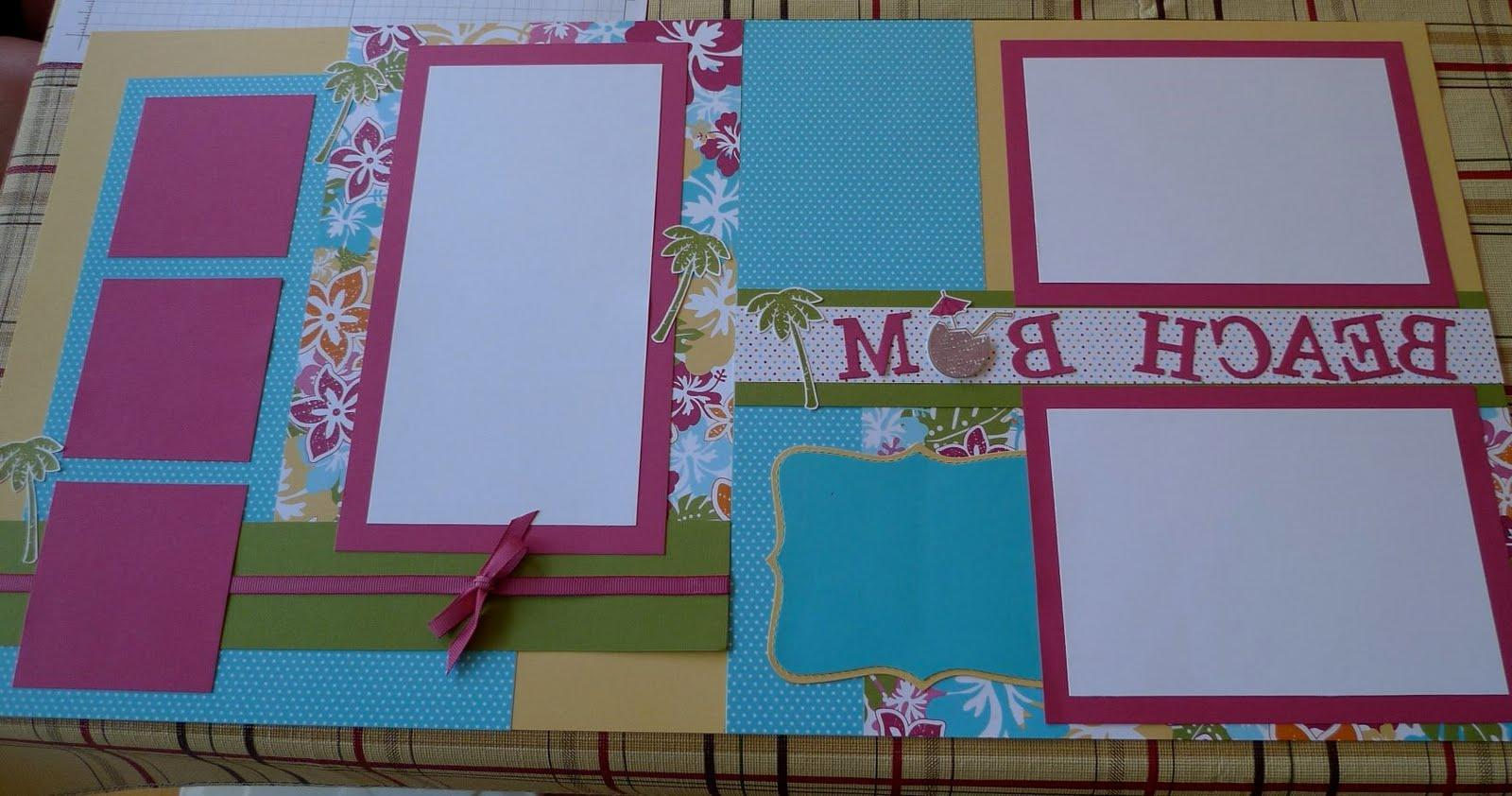 Wedding scrapbook pages for