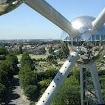 view from the atomium brussels in Brussels, Brussels, Belgium