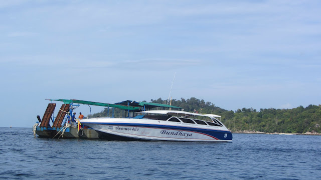 The speedboat we took from Langkawi Island, Malaysia to Koh Lipe, Thailand.