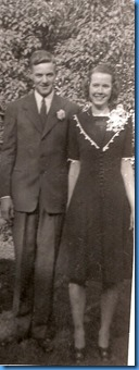 Chuck and Loie Burgess May 10 1942, their wedding day