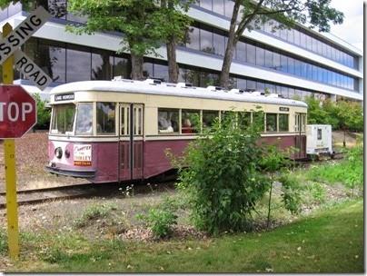 IMG_8446 Willamette Shore Trolley at Nebraska Street in Portland, Oregon on August 19, 2007