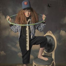 Circus girl by Carola Kayen-mouthaan - Babies & Children Child Portraits ( fine art, girl, portrait, fineart, child,  )