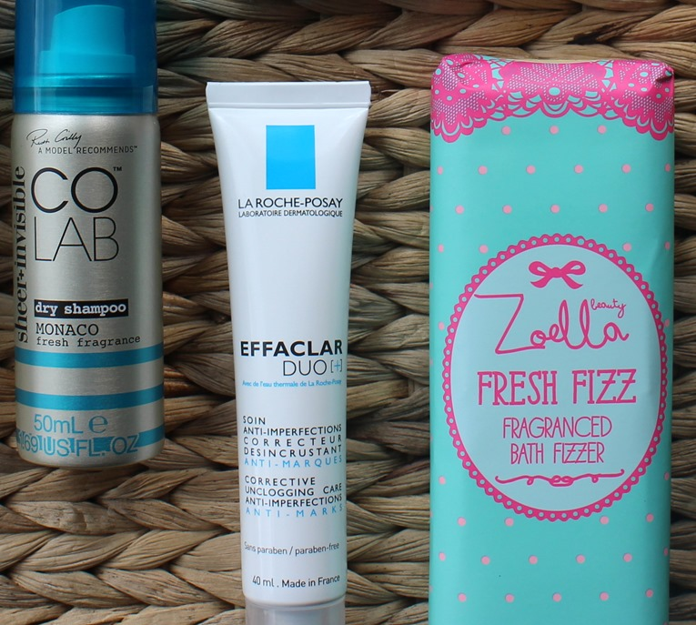 CoLab-Monaco, LaRochePosay-Effaclar-Duo , Zoella-Fresh-Fizz-Fragranced-Bath-Fizzer