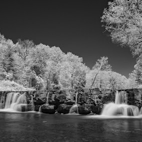 Infrared Falls by Charles Grubbs - Landscapes Waterscapes ( infrared, waterfall, arkansas )