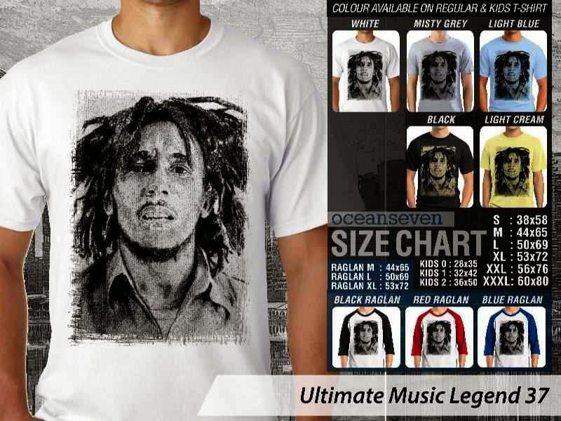 Kaos Bob Marley Legenda Musik 37 distro ocean seven