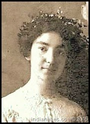 Clara Kuhn at 18 years old in her sister, Tillie's, wedding.