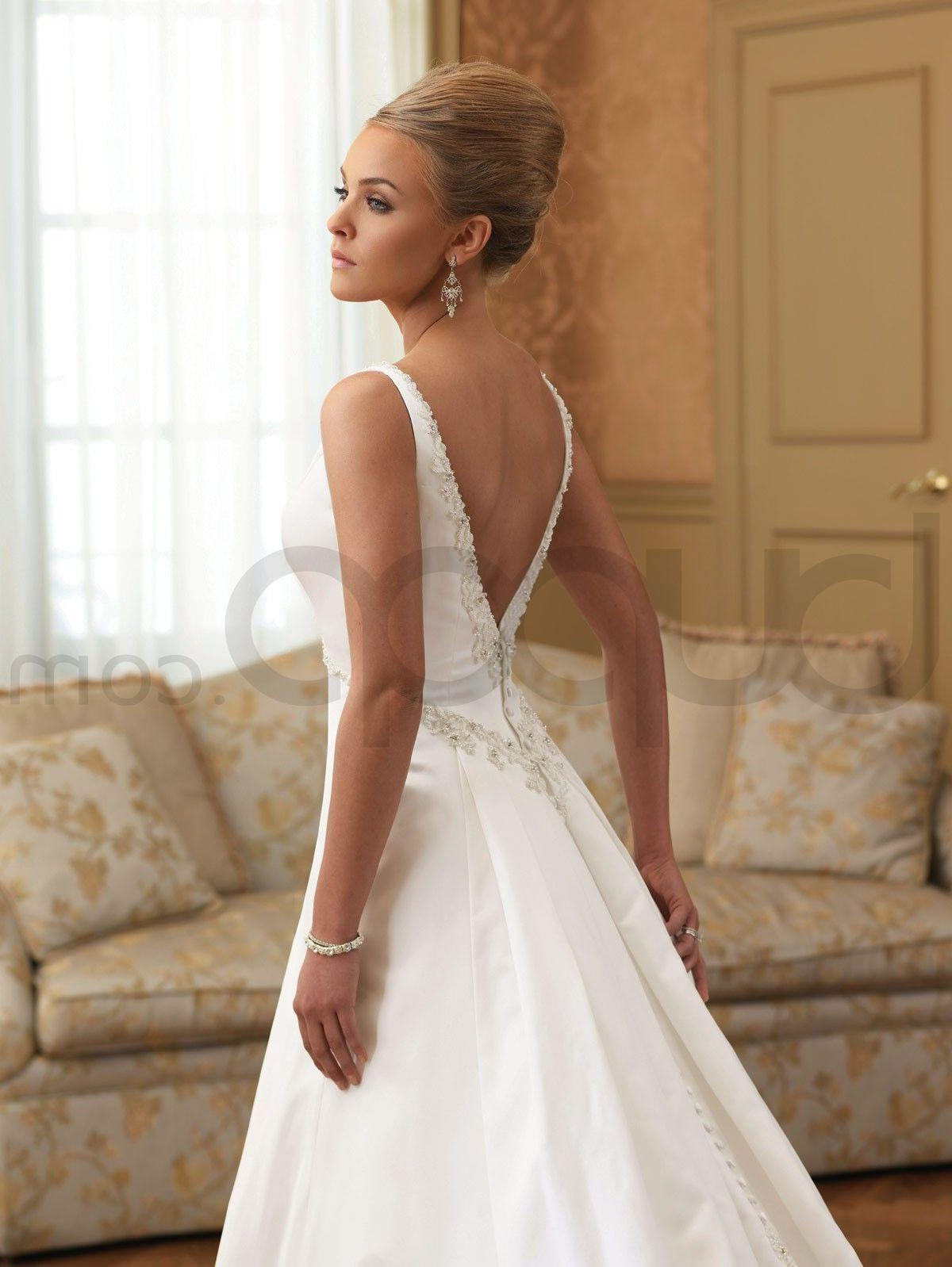 y Low Back Wedding Dress Viewing Gallery