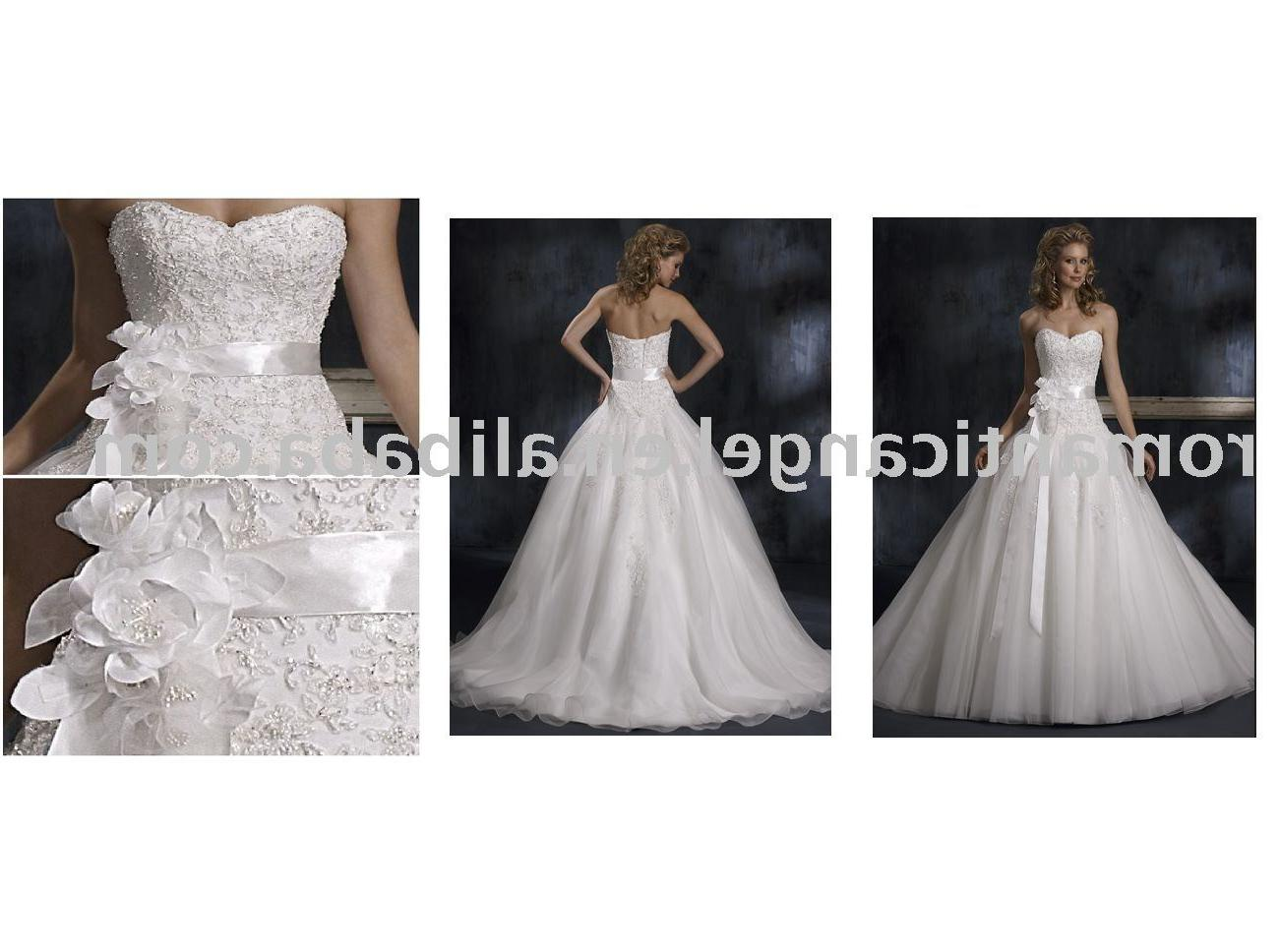 August new arrival higher quality wedding dress WD-90
