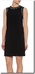 Max Mara Black Shift Dress with Embellished trim