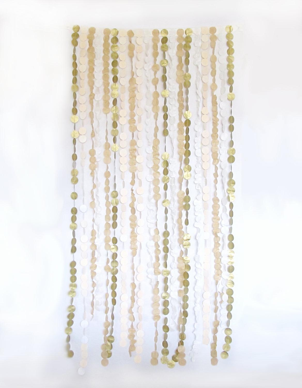 Wedding Backdrop - Tissue Garland - 6 ft. W x 5 ft. L. From ThimbleDesignInc