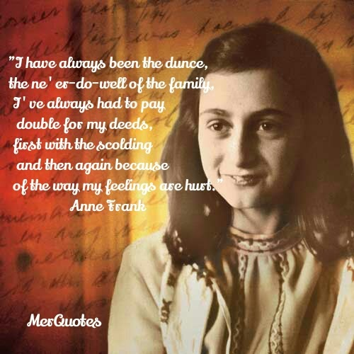 aspergers the alien anne frank diary of a young girl favorite quotes