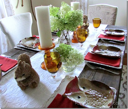 pre fall and autumn tablescape using summer colors