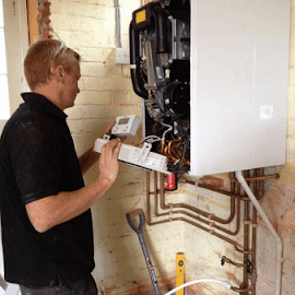 Our Engineer Commissioning a Vaillant boiler installation