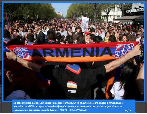 Genocidi armenian manifestacion de Marselha 24042015 2
