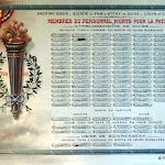 Familistère : musée, plaque commémorative des morts de la Première Guerre mondiale