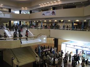 Inside the UN Convention center
