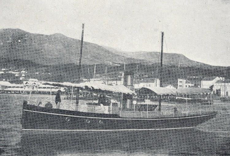 El vapor OPAL, de servicio de mantenimiento de faros. De la revista La Vida Marítima. Año 1909.JPG