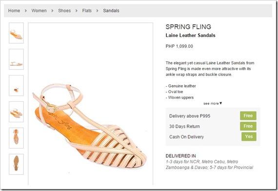 zalora sandals spring fling