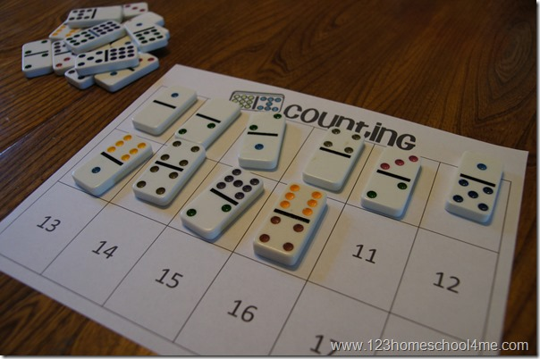 Practice counting 1-18 for preschool and kindergarten