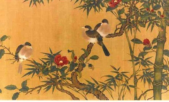 Lin-Chun-Birds-Bamboo-Camelias