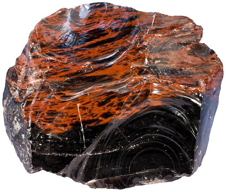 obsidian - igneous rocks