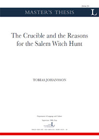 Cover of Tobias Johansson's Book The Crucible And The Reasons for The Salem Witch Hunt