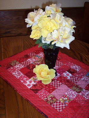 Spring Table with Red Table Topper