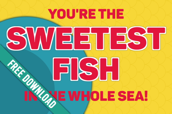 Girls Camp Pillow Treat Handout: 'Sweetest' (Swedish) Fish