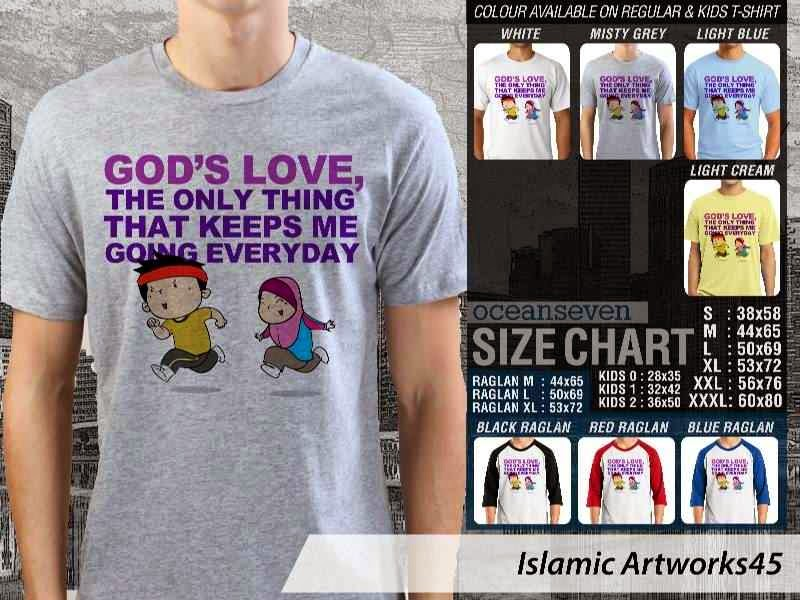 KAOS Muslim Gods love. the only thing that keeps me going everyday. Islamic Artworks 45 distro ocean seven