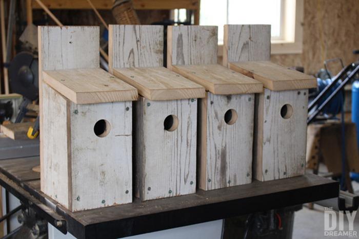 DIY-Bluebird-birhouses