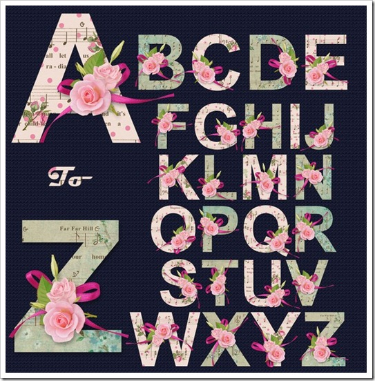 English Alphabet Music of Spring
