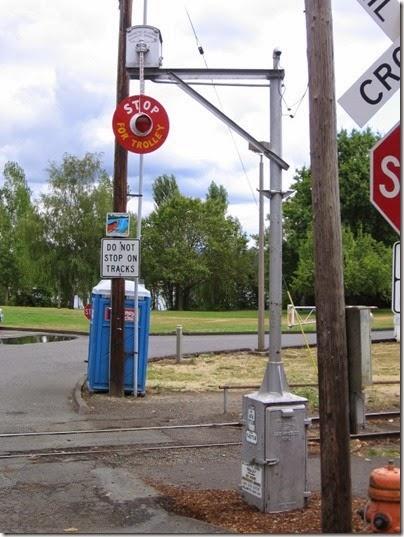 IMG_8443 Willamette Shore Trolley Wigwag at Nebraska Street in Portland, Oregon on August 19, 2007