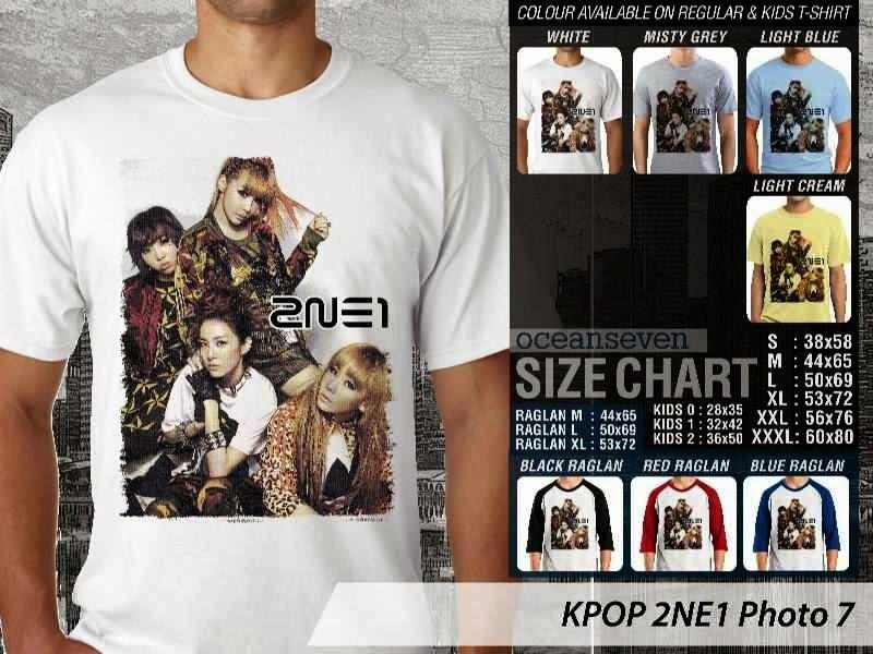 Kaos 2ne1 7 Photo K Pop Korea distro ocean seven