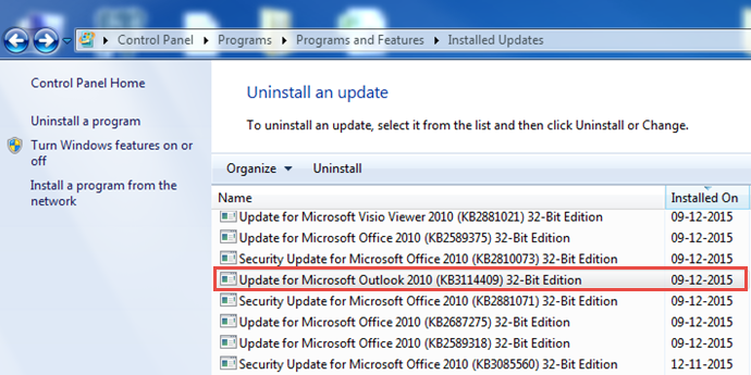 Update for Microsoft Outlook 2010 - KB3114409 (www.kunal-chowdhury.com)