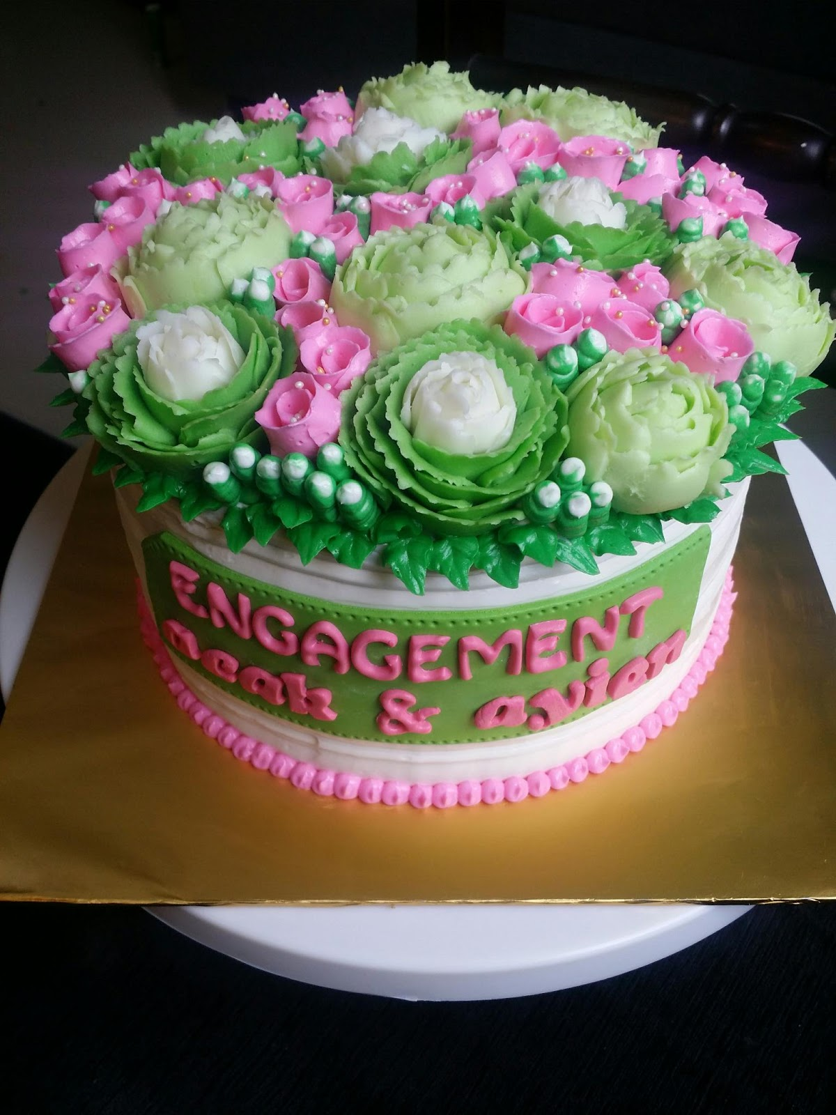 zielicious homemade cakes kek tunang nikah engagement