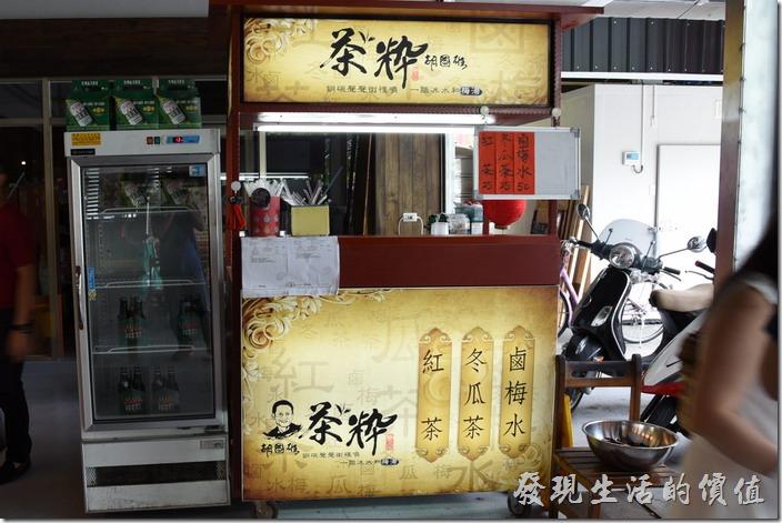 南投-胡國雄古早麵。一旁還有賣冷飲,紅茶、冬瓜茶、鹵梅水(這是什麼?)