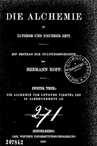 Cover of Kopp Hermann's Book Die Alchemie in Alterer und Neuerer Zeit (1886,in German)