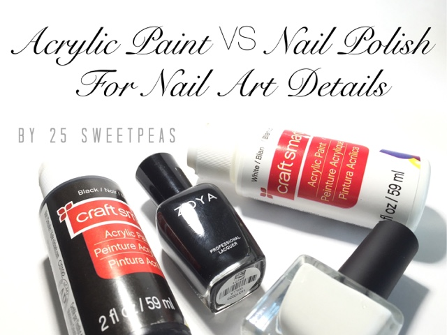Acrylic Paint Vs Nail Polish For Nail Art Details 25 Sweetpeas