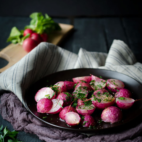 Roasted Radishes with Brown Butter and Parsley