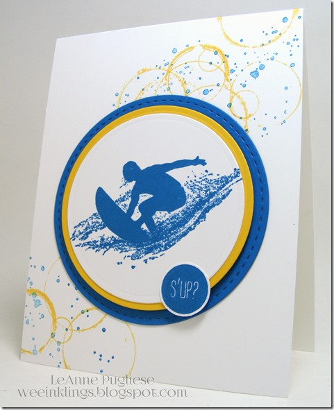 LeAnne Pugliese WeeInklings Surfer Dude Birthday Stampin Up