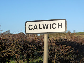 Road sign showing where I walked today.